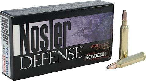 Nosler 39674 Defense Rifle 223 Rem/5.56 NATO Bonded Solid Base 64 GR - 20rd Box