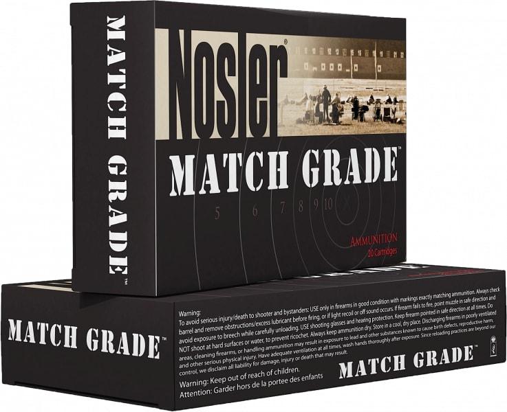 Nosler 43136 Match Grade Rifle 338 Lapua Magnum Hollow Point 300 GR - 20rd Box