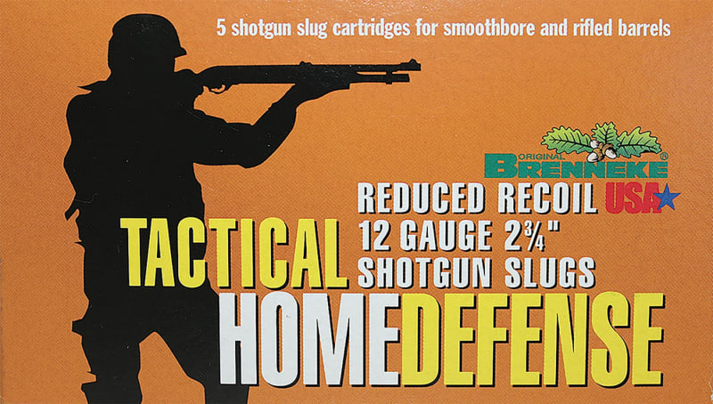 "Brenneke 4205126 Tactical Home Defense 12GA Rifled Lead 2.75"" 1oz Slug - 5sh Box"