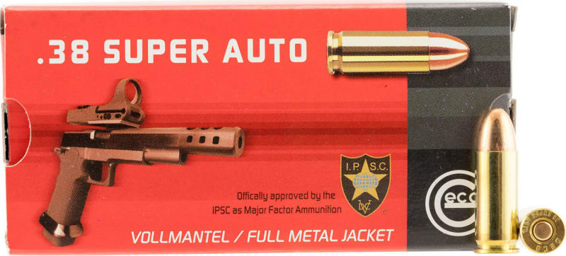 Geco 271140050 38 Super Full Metal Jacket RN 124 GR - 50rd Box