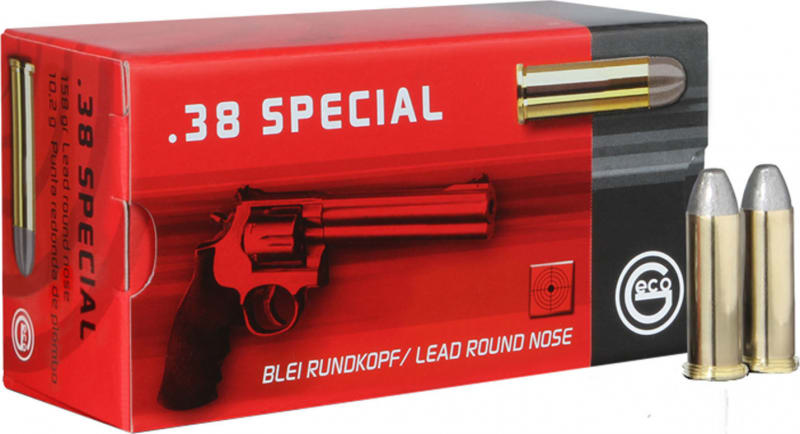 Geco 271840050 38 Special Lead Round Nose 158 GR - 50rd Box