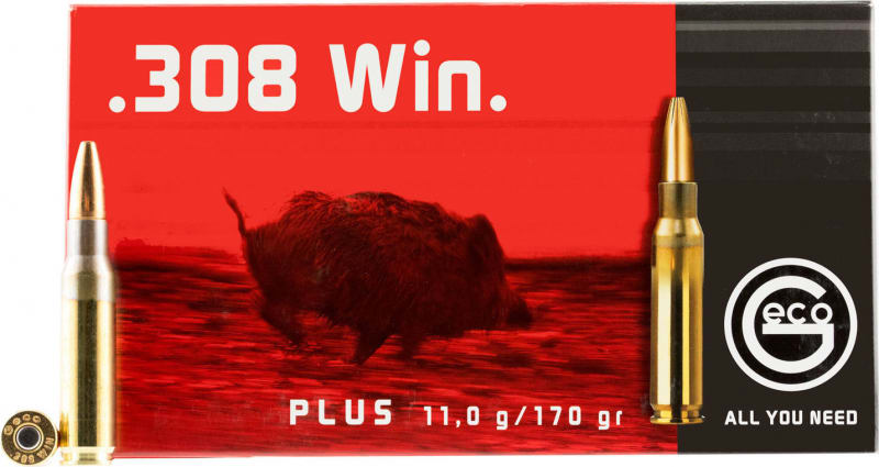 Geco 280540020 308 Winchester Geco Plus 170 GR - 20rd Box