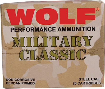 Wolf MC3006FMJ168 Military Classic 30-06 FMJ 168 GR - 500rd Case