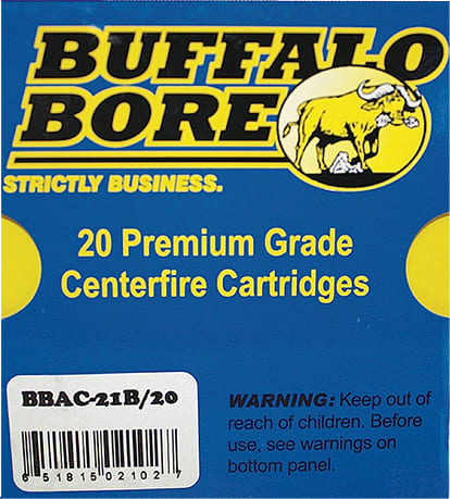 Buffalo Bore Ammunition 21B/20 10mm Automatic 180 GR Jacketed Hollow Point - 20rd Box
