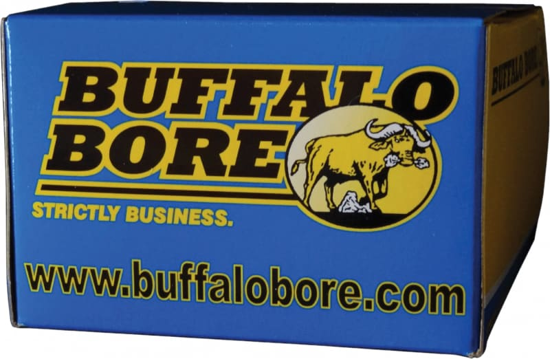 Buffalo Bore Ammunition 24F/20 9mm Luger +P+ 124 GR FMJ Flat Nose - 20rd Box