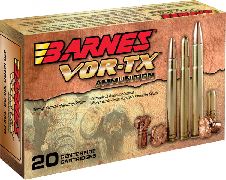 Barnes 22008 VOR-TX 22-250 Remington 50 GR TSX FB - 20rd Box
