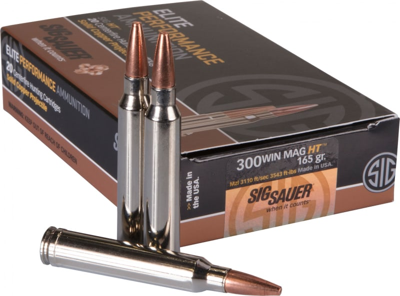 Sig Sauer E3WMH120 Hunting Elite 300 Winchester Magnum 165 GR Copper Solid - 20rd Box