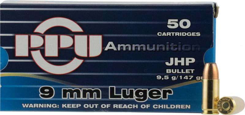 PPU PPR9.7 Handgun 9mm Luger 147 GR Full Metal Jacket - 50rd Box