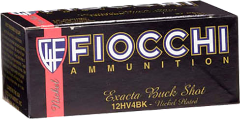 "Fiocchi 12HV4BK High Velocity 12GA 2.75"" Nickel-Plated Lead 27 Pellets 4 Buck - 10sh Box"