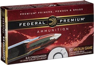 Federal P65CRDA1 Vital-Shok 6.5 Creedmoor 140 GR Nosler AccuBond - 20rd Box