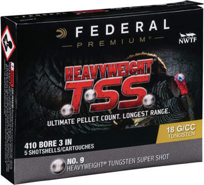 "Federal PTSS419F9 Heavyweight TSS 410GA 3"" 13/16oz #9 Shot - 5sh Box"