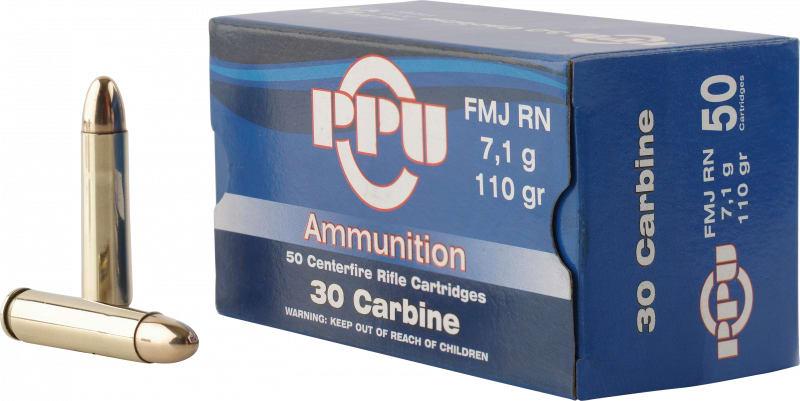 PPU PP30F Standard Rifle 30 Carbine 110 GR Full Metal Jacket - 50rd Box