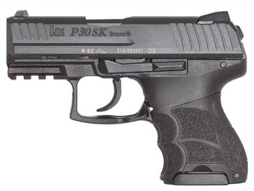 Heckler & Koch P30SK V1 Light 9mm Pistol, Night Sight Subcompact LEM DAO 3rd - HK 730901KLEA5