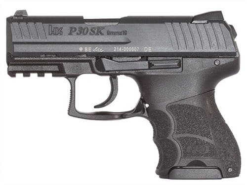 Heckler & Koch P30SK V1 Light 9mm Pistol, Night Sight Subcompact LEM DAO 3rd - HK 730901KLEA5