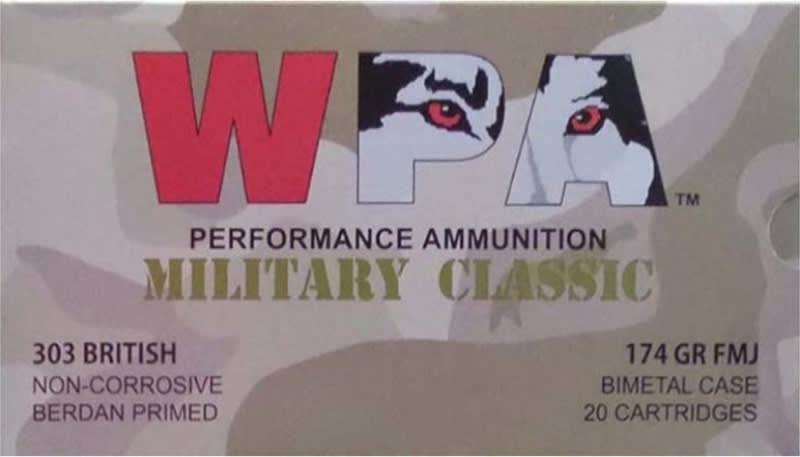 Wolf Military Classic .303 British 174gr FMJ Ammo - 280rd Box