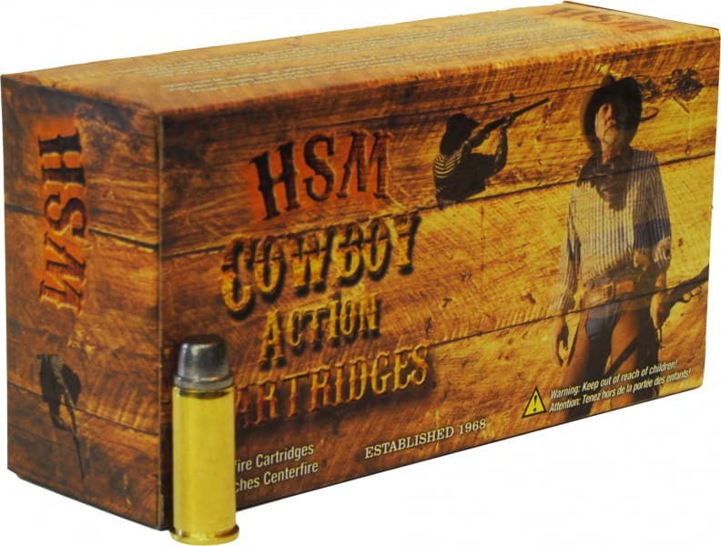 HSM 38401N Cowboy Action 38-40 Winchester 180 GR Round Nose Flat Point - 50rd Box