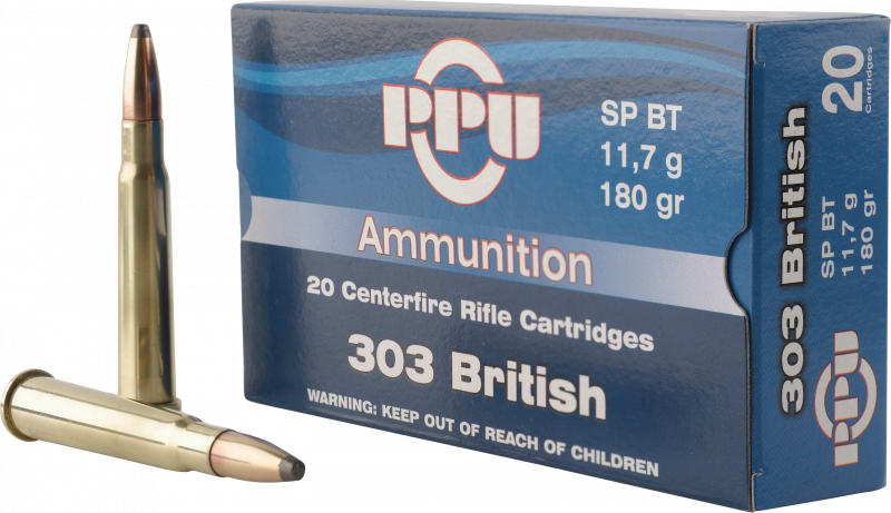 PPU PP303S2 Standard Rifle 303 British 180 GR Soft Point - 20rd Box