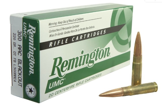 Remington UMC .300 AAC Blackout 220 GR Subsonic Ammo L300AAC4 - 20rd Box