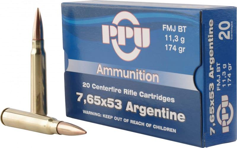 PPU PP68H Metric Rifle 7.65x53mm Argentine 174 GR Full Metal Jacket - 20rd Box