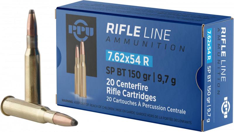 PPU PP76254S Metric Rifle 7.62x54mm Russian 150 GR Soft Point - 20rd Box