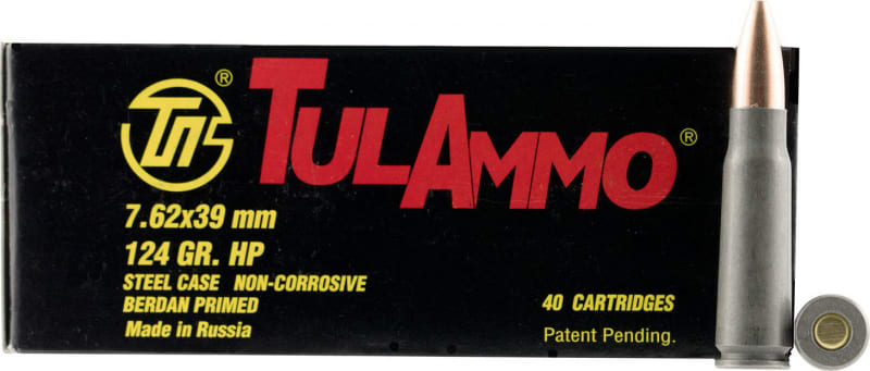 Tulammo UL076209 Centerfire Rifle 7.62x39mm 124 GR FMJ - 40rd Box