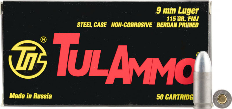 Tulammo Centerfire Handgun .45 ACP 230 GR FMJ - 50 Round Box - Mfg # TA452300