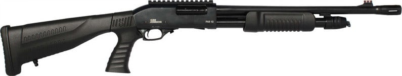 "Iver Johnson Arms PAS20 PG-R/C Johnson Shotgun 20GA. 3"" 18"" CYL Blued QD PG Buttstock Shotgun"