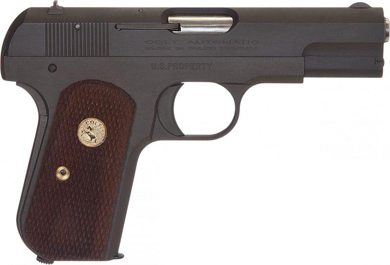 "Colt by US Armament 1903P 1903 Hammerless Single 3.75"" 8+1 Walnut Grip Gray Parkerized"