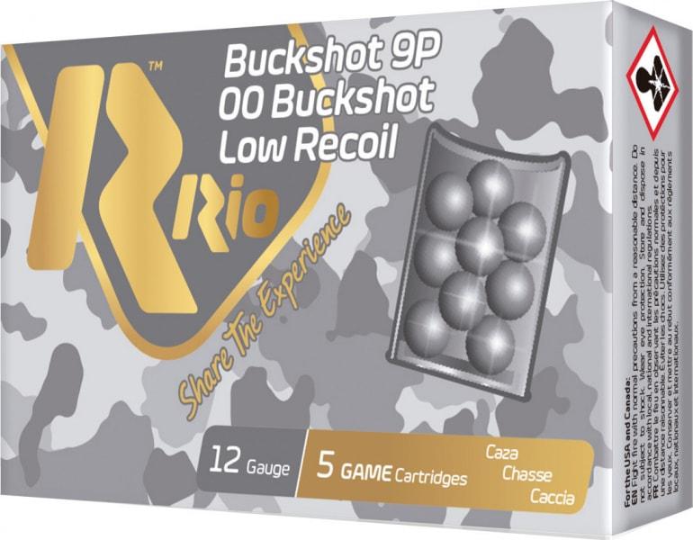 RIO Ammunition RBLR129 12 2.75 00BK 9PEL Buck Low Recoil - 5sh Box