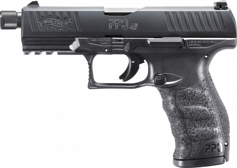"Walther Arms 2829231 PPQ M2 SD Double 4.9"" 12+1 Black Interchangeable Backstrap Grip Black"