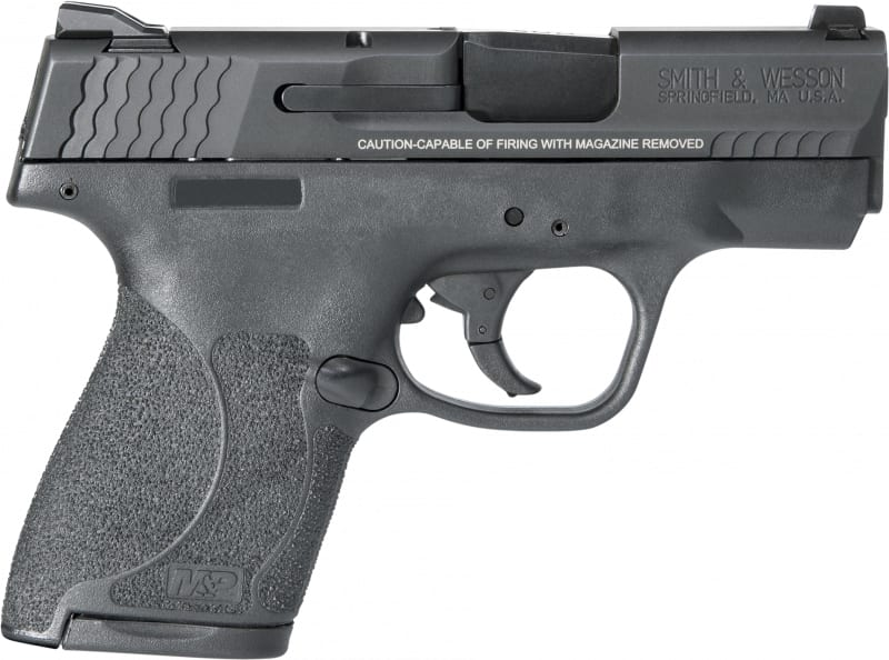 "Smith & Wesson 11813 M&P 40 Shield M2.0 *MA Compliant* Double 3.1"" 6+1/7+1 Black Polymer Grip/Frame Grip Black Armornite Stainless Steel"