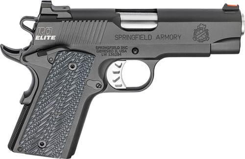 "Springfield Armory PI9126E 1911 .45 ACP Caliber - Range Officer Elite Compact Single 4"" 6+1 Black G10 Grip Black"