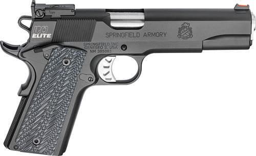 "Springfield Armory PI9128E 1911 Range Officer Elite Target Single 5"" 7+1 Black G10 Grip Black"