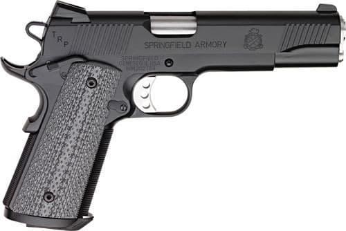 "Springfield Armory PC9108L18 1911 TRP Single 5"" 7+1 Black/Gray G10 Grip Black Carbon Steel"