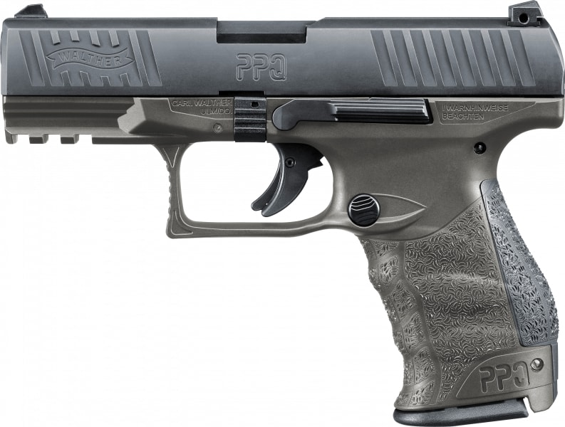 "Walther Arms 2823462 PPQ M2 Tungsten Gray *Exclusive* DA/SA 4"" 15+1 Black Interchangeable Backstrap Grip Tungsten Gray Frame Black Slide"