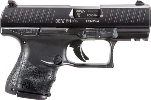 """Walther Arms 2815249 PPQ M2 9mm Subcompact Single 3.5"""" 15+1/10+1 Black Interchangeable Backstrap Grip Black"""