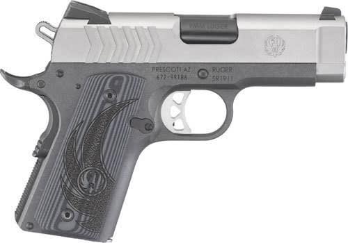"""Ruger 6758 SR1911 Lightweight Officer Single 3.6"""" 8+1 Black G10 Grip Stainless Steel"""