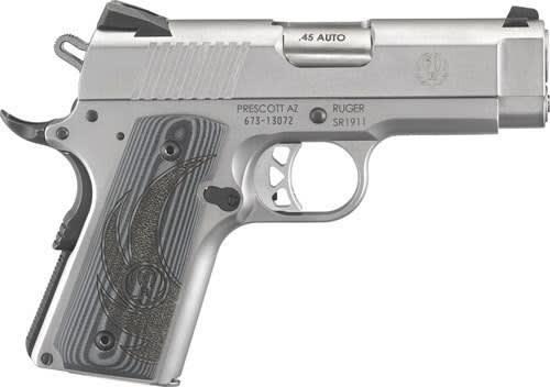 Ruger 6762 SR1911 FS7rdOfficer Stainless G10 Grips