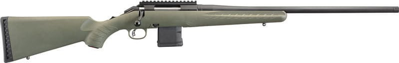 """Ruger 26922 American Predator Bolt 22"""" 10+1 Synthetic Moss Green Stock Black"""