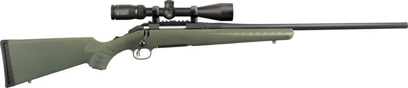 """Ruger 26953 American Predator Bolt 22"""" 3+1 Synthetic Moss Green Stock Black"""
