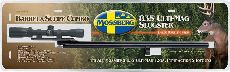 """Mossberg 90835 835 12GA 24"""" Blued Scope Base with Scope"""