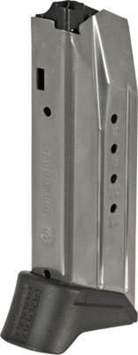 Ruger 90618 American Compact Pistol 9mm Luger 12rd Steel Nickel Finish