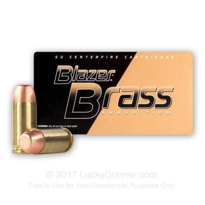 CCI Blazer Brass 40 S&W 180 GR FMJ Ammo, 5220 - 50rd Box