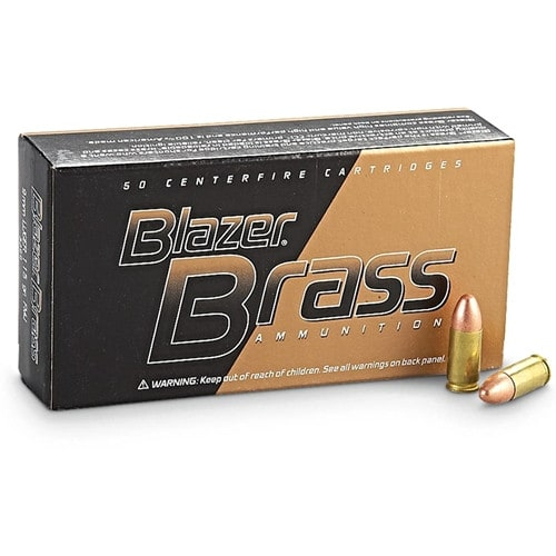 CCI Blazer Brass 9mm 124gr FMJ Ammunition 5201 - 50rd Box
