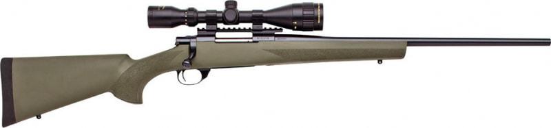 "Howa HGK61208+ Hogue Gameking Scope Package Bolt 22-250 Remington 22"" 5+1 Hogue Overmolded Green Stock Blued"