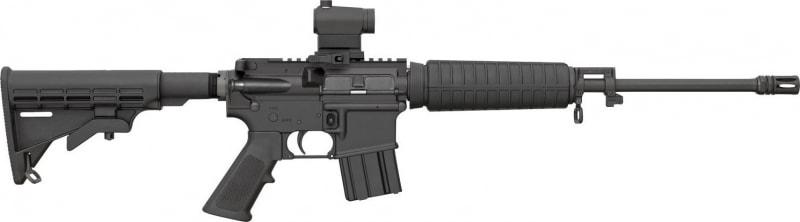 """Bushmaster 91047 XM-15 QRC w/Red Dot Semi-Auto .223/5.56 NATO 16"""" 10+1 6-Position Stock Black"""