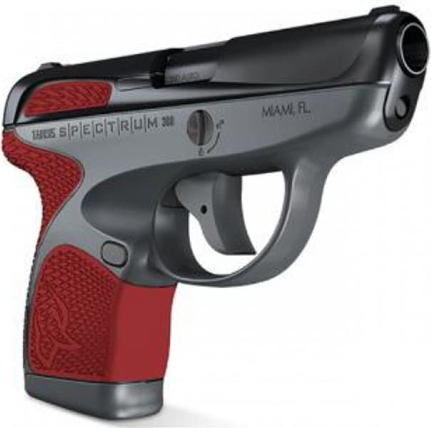 "Taurus 1007031206 Spectrum Double 380 ACP 2.8"" 6+1/7+1 Grip Black/Gray/Red"