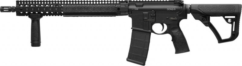 "Daniel Defense 15175047 DDM4 V9 Semi-Auto .223/5.56 NATO 16"" 30+1 6-Position Stock Black Hard Coat Anodized/Phosphate"