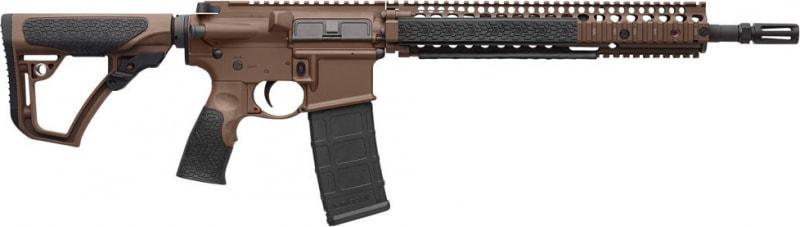 "Daniel Defense 15126011 DDM4 M4A1 Semi-Auto .223/5.56 NATO 14.5"" 30+1 6-Position Brown Stock Brown Cerakote/Black Phosphate"