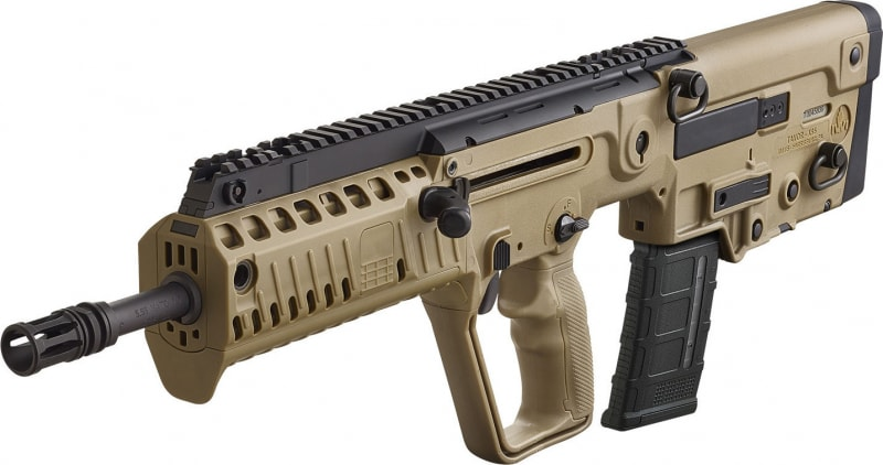 "IWI XFD16BLK Tavor X95 Semi-Auto 300 AAC Blackout/Whisper (7.62x35mm) 16.5"" 30+1 Polymer FDE Stock Black"